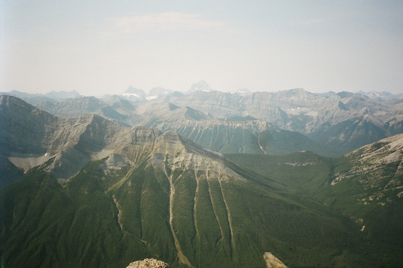 View of Mt Assinaboine & Aye & Eon