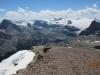 Iceberg lake Rt to lft Mount Thompson Portal peak Bow glacier
