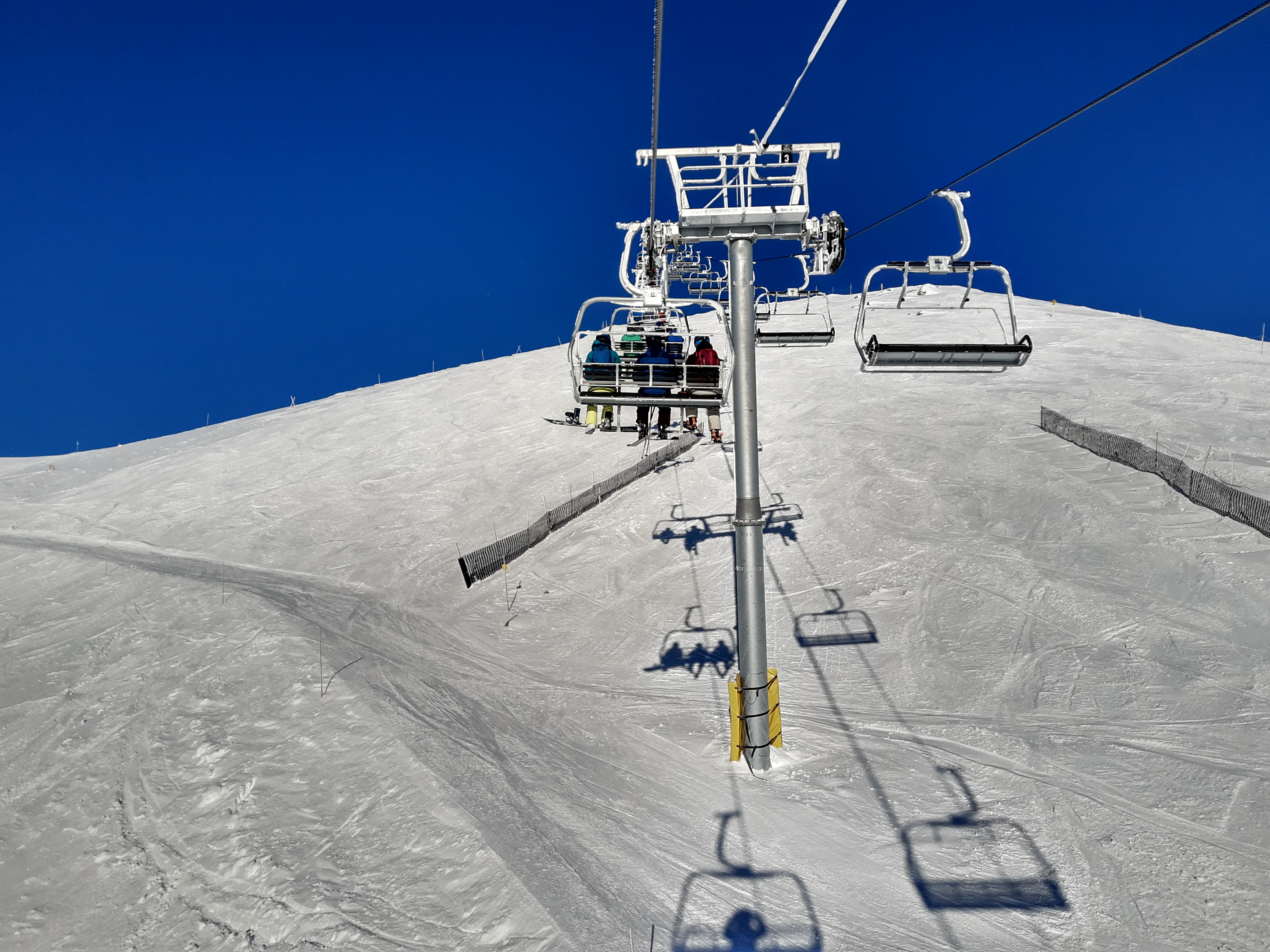 On the new Summit lift that replaced the old Platter