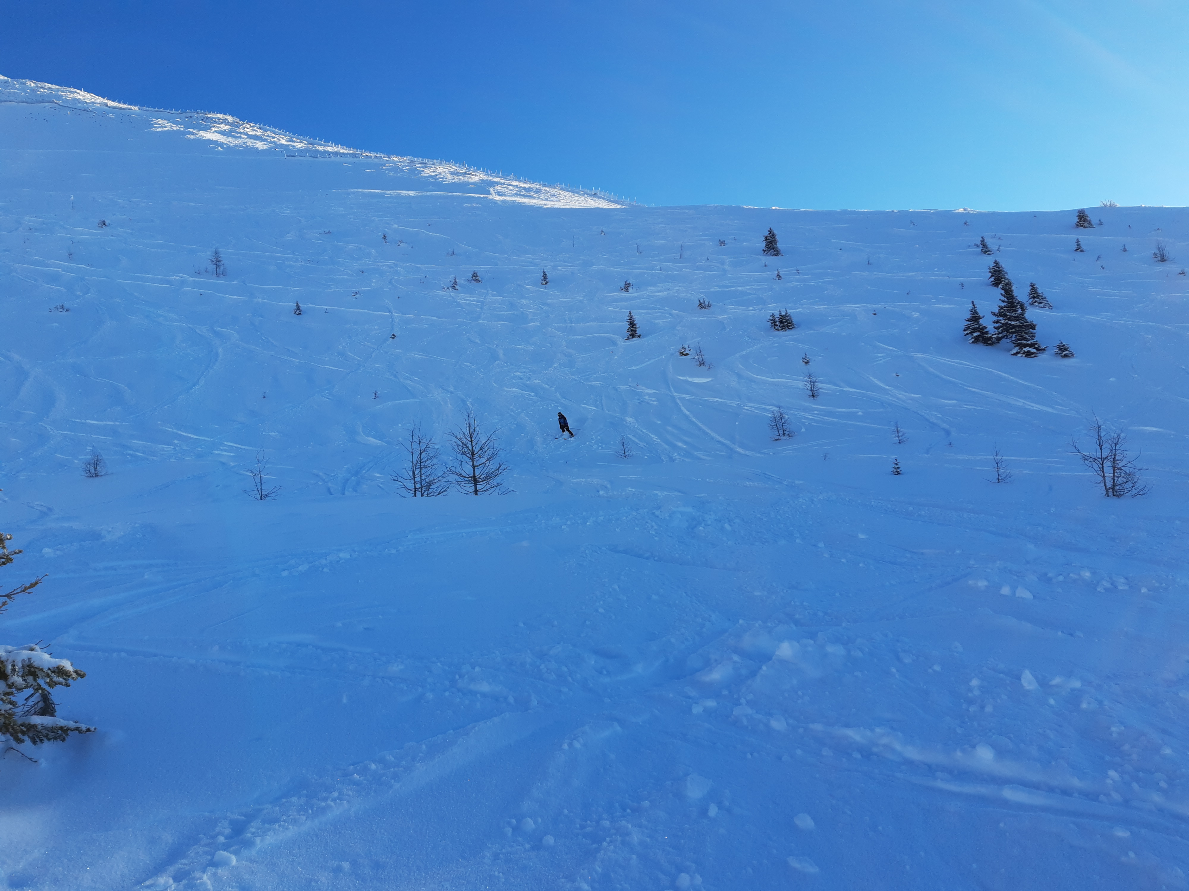 Looking back up to Out of Bounds in West Bowl
