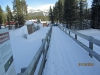 Lower Tram Line Lake Louise. Bridge at Railway restrurant