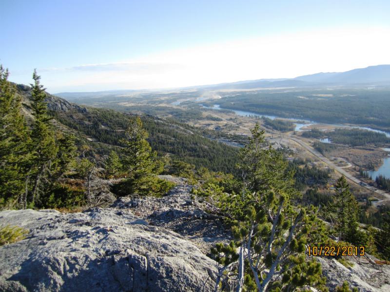 Looking Down Hwy 1A towards Ghost Reservoir