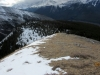 A faint trail seen below in the snow. Is this another route ?Yes see Pics following on