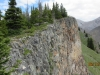 Rock Wall  along the ridge