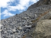 Crossing rock avalanche rubble