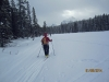 Skiing on Pipestone lake