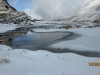 Partial frozen tarn