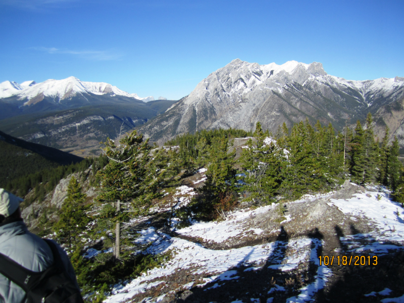 View back down the spine of the ridge