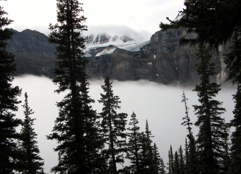 Low Cloud blankets Moraine Lake