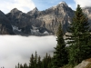 Low cloud in the valley of the Ten Peaks