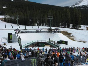 The set up for the Rail Jam