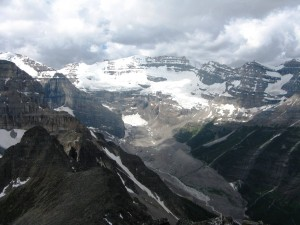 Plain of the Six Glaciers and Mt Victoria
