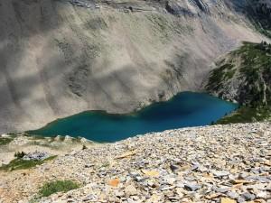 Hamilton lake from the Ridge top
