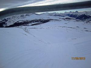Angel Flight ski run with a few rocks still - Sunshine Village