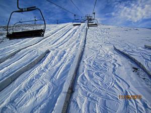 Skiing under the Angel Chair - Sunshiine Village