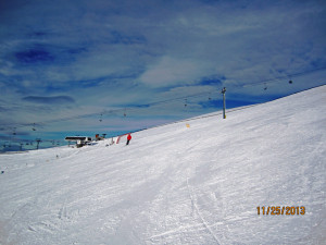 View from the Great Divide ski run to the Angel Quad Chair - Sunshine Village