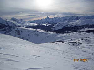 Sunshine Village. View from Bye Bye Bowl