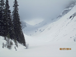 This was as far as we went due to avalanche danger