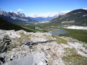 Razors Edge looking into the Bow Valley