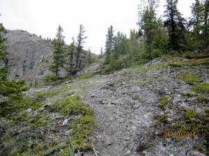 First sight of ridge ahead