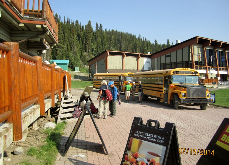 Yellow School Bus Sunshine Village