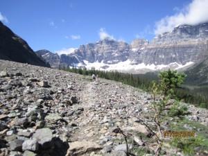 Hungabee & below Horseshoe Glacier