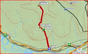 Mt Cory GPS Track