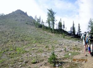 Start of climb up Tent Ridge