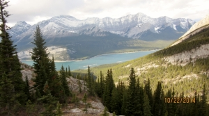 Spray Lakes below