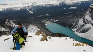 Doug & Chateau Lake Louise below
