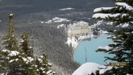 The Chateau Lake Louise from the Big Beehive