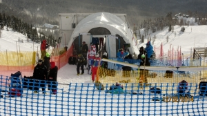 Start of the Mens World Cup Downhill Race