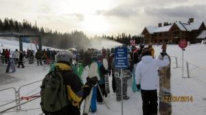 Grizzly Gondola pre- christmas crowds