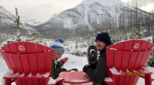 Simon & Kassy on the Red Seats