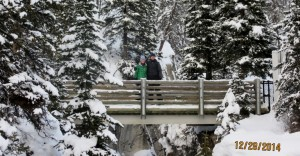 Kassy & Simon on bridge over Marble Canyon