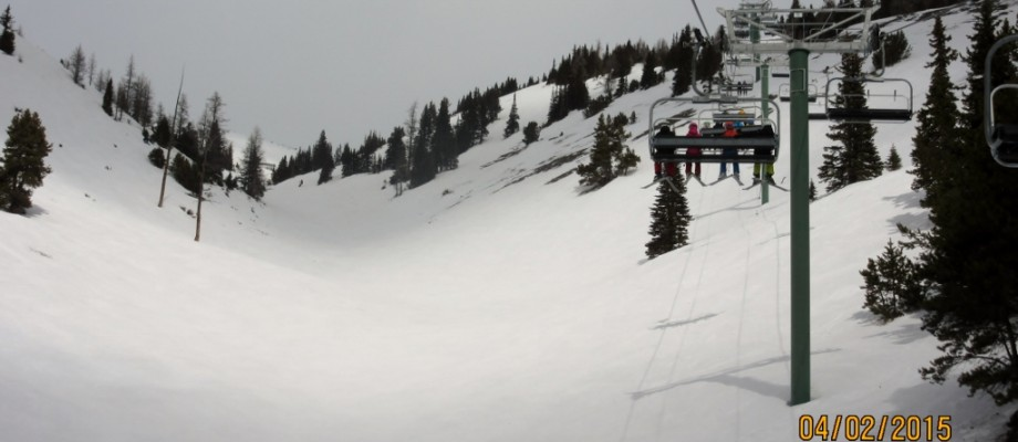 Conditions at Lake Louise April 2015