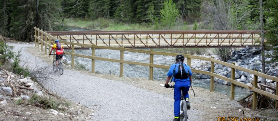 Biking down the Goat Creek Trail