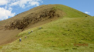 Still aways to go to the summits of Pocaterra Ridge