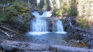 Waterfall from Commonwealth Creek.