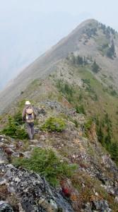 Narrow ridge to P3