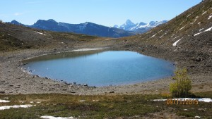 Small tarn at Harvey Pass