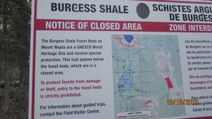 Burgess Shale warning
