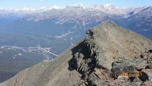 From the summit to lower peak and Lake Louise ski hill