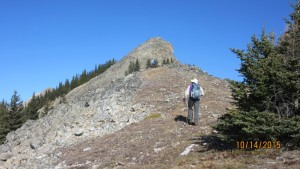 Lawson Ridge and summit