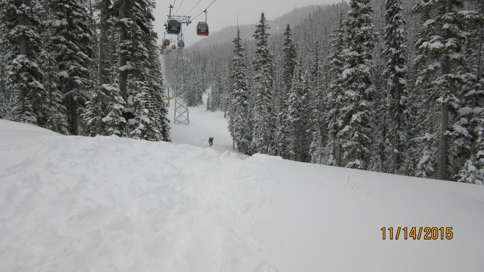 Tons of snow on opening day Sunshine Village
