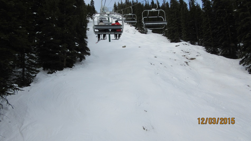 Under the Ptarmigan lift