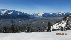 Moist air from BC meeting Alberta cold air in the Yoho Valley