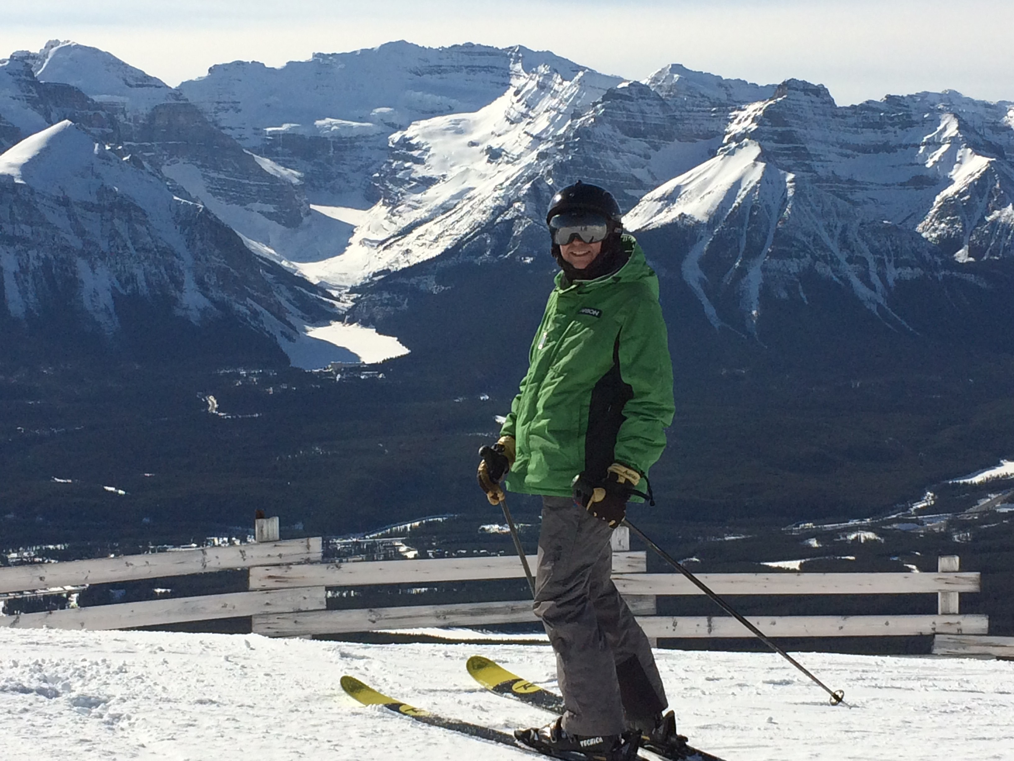 Bill admiring the view at Lake Louise